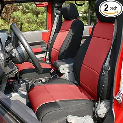 Marvelous Rugged Ridge 13297 53 Black Seat Cover Kit Red 2011 2018 Jeep Wrangler Unlimited Jku 4 Door 2 Pack Short Links Chair Design For Home Short Linksinfo