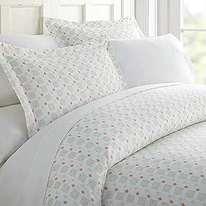 Linen Market iEnjoy Home Hotel Collection Premium Ultra Soft Lights in Blue Pattern 3 Piece Duvet Cover Bed Sheet Set, Twin/Twin Extra Long, Aqua