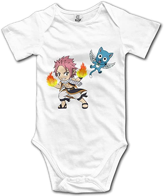 GuoJJ Wuliwuli Fairy Tail Natsu Dragneel Happy Cat Baby Onesie Body para bebé 0-3 Meses: Amazon.es: Ropa y accesorios