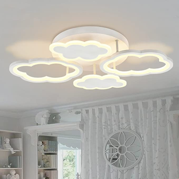 Amazon.com: Clouds LED Lámpara de Techo, Creativo Niños y ...