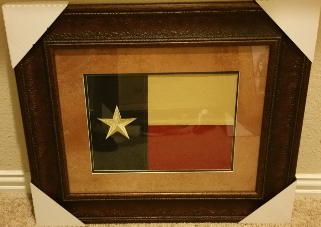 Small Texas Flag Framed Aged Usa Real Rustic Western Art Wall Decor
