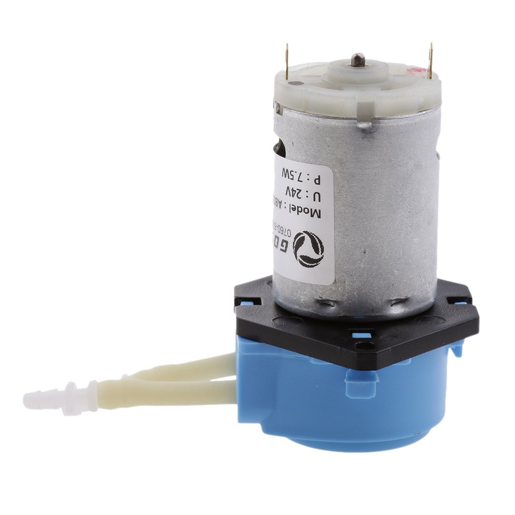 MonkeyJack DC 24V Dosing Pump Peristaltic Pump Small Pumphead Easy Working for Chemical, Experiment,Food, Plants Blue
