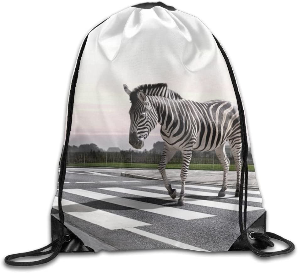 Zebra Drawstring Backpack Rucksack Shoulder Bags Training Gym Sack For Man And Women