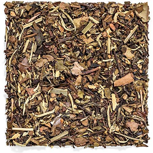 - Tealyra - White Ayurvedic Chai - Sweet Spicy - White Tea - Cinnamon - Ginger - Healthy Loose Leaf Tea - Vitamins Antioxidants Rich - Low Caffeine - 112g (4-ounce)