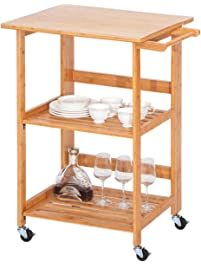 Harperu0026Bright Designs Concord Series Home Kitchen Island Storage Cart With  Wheels