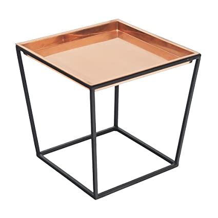 Achla Designs Arne Plant Stand, 14 H with Copper Tray