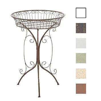 CLP Table Ronde de Jardin en Fer Forgé MARGO - table de terrasse ...