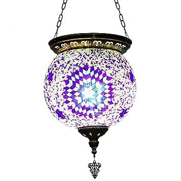 Lámparas de araña de cristal colgante techo Tiffany estilo ...