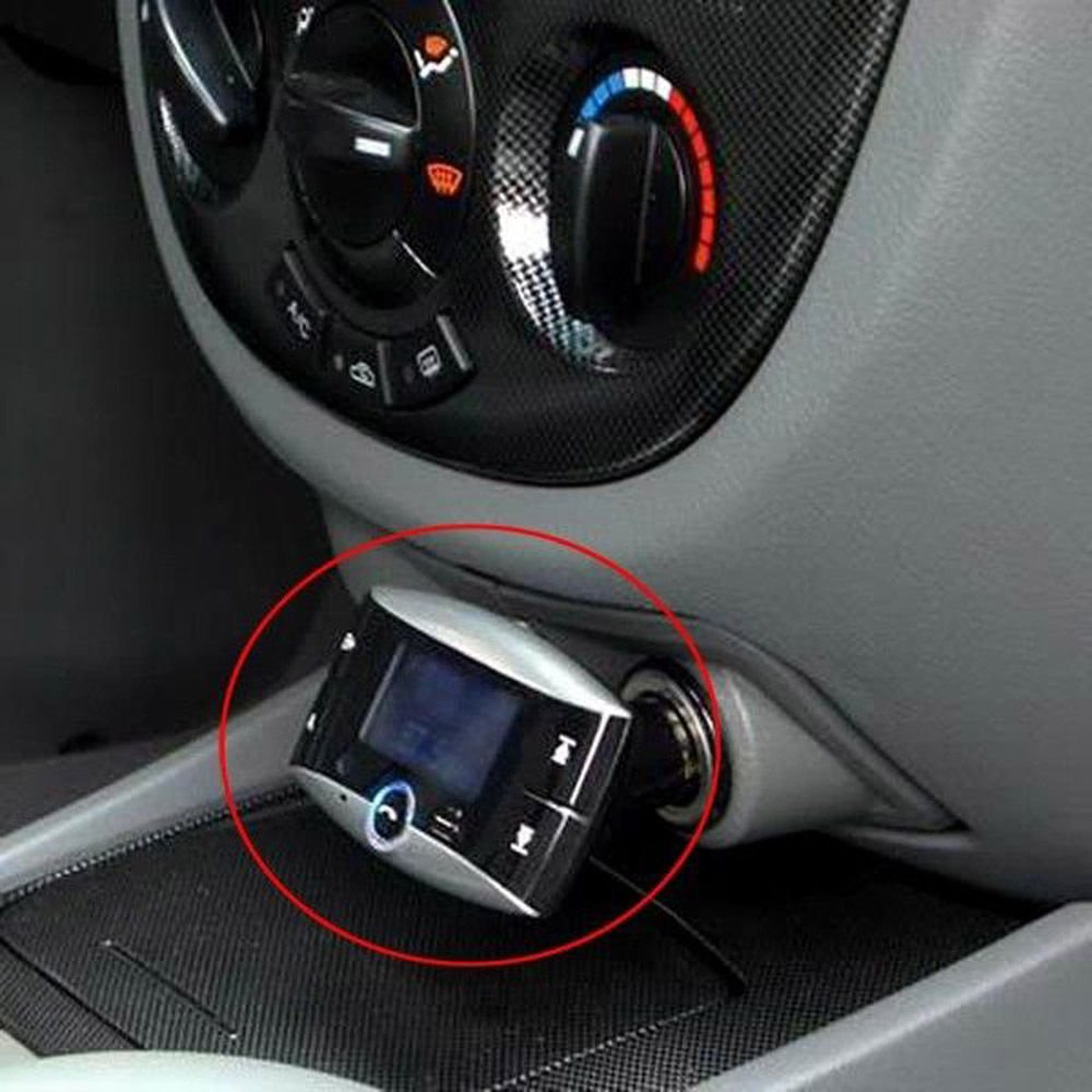 Telecomando 1,5  LCD-Auto Bluetooth MP3-Player-drahtloser Trasmettitore FM-Lenkrad Freisprecheinrichtung Bluetooth Car Kit Unterst/¨/¹tzung USB SD MMC