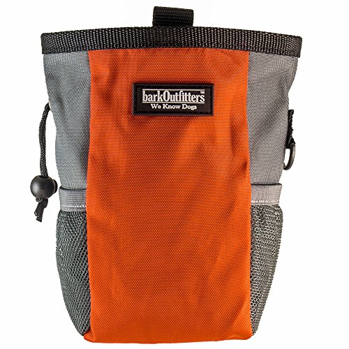 Large Dog Treat Pouch - Training Bag Can Easily Carries Snacks and Toys - Professional Quality Pouch - by barkOutfitters (Orange)