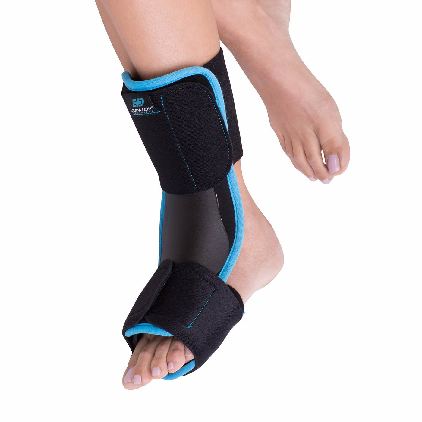 DonJoy Advantage DA161FB01-BLK-S/M Plantar Fasciitis Night Splint, Rigid Support for Maximum Stretch, Pain Relief, Achilles Tendonitis, Lightweight