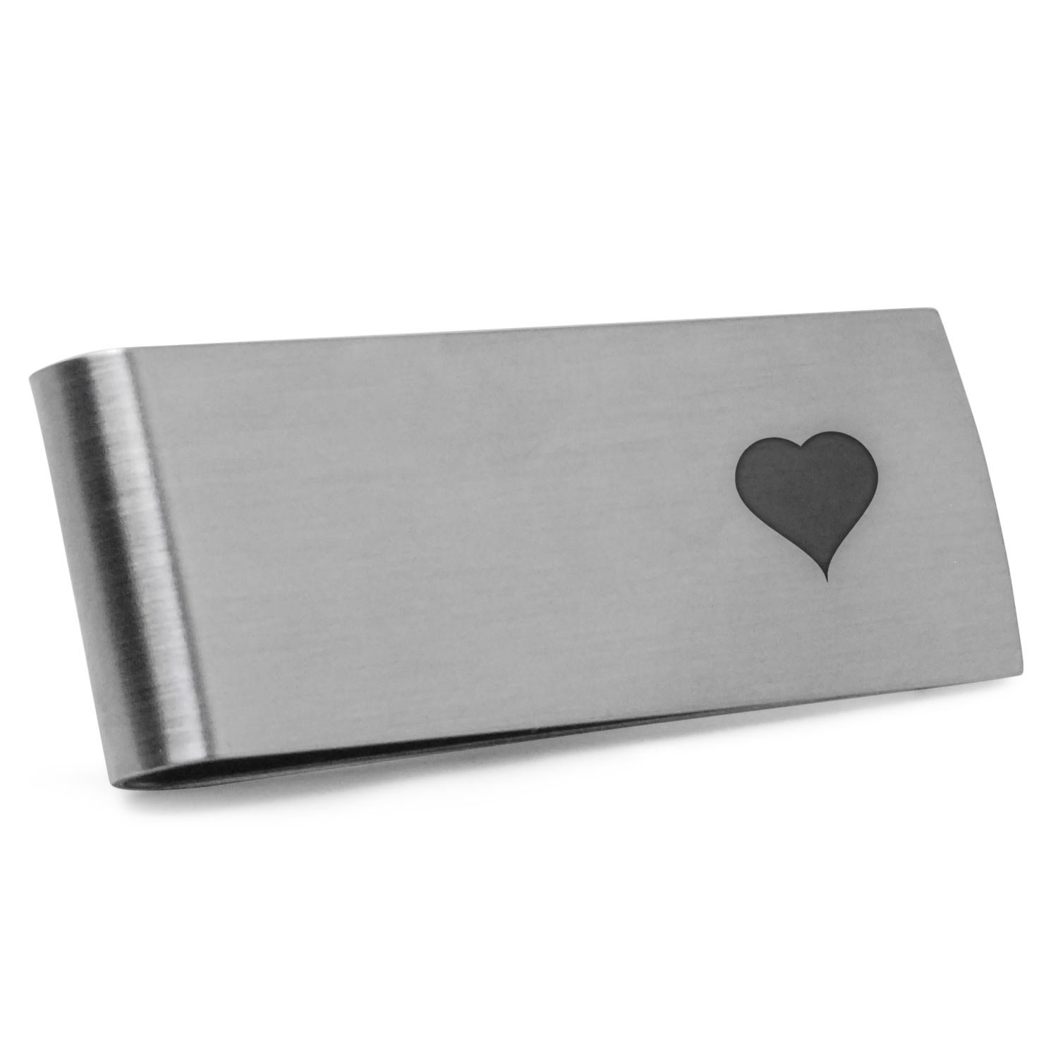 I Love You Money Clip | Stainless Steel Money Clip Laser Engraved In The USA.