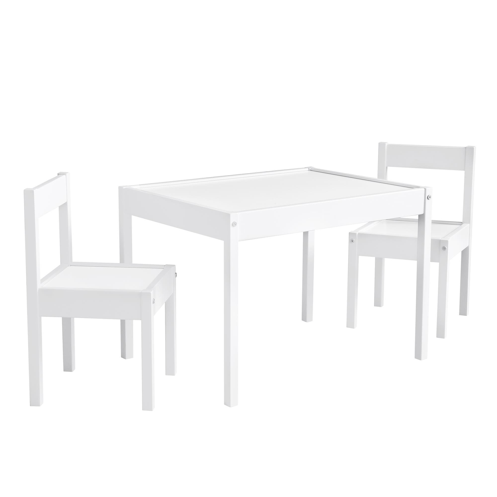 Baby Relax Hunter 3 Piece Kiddy Table and Chair Set, White