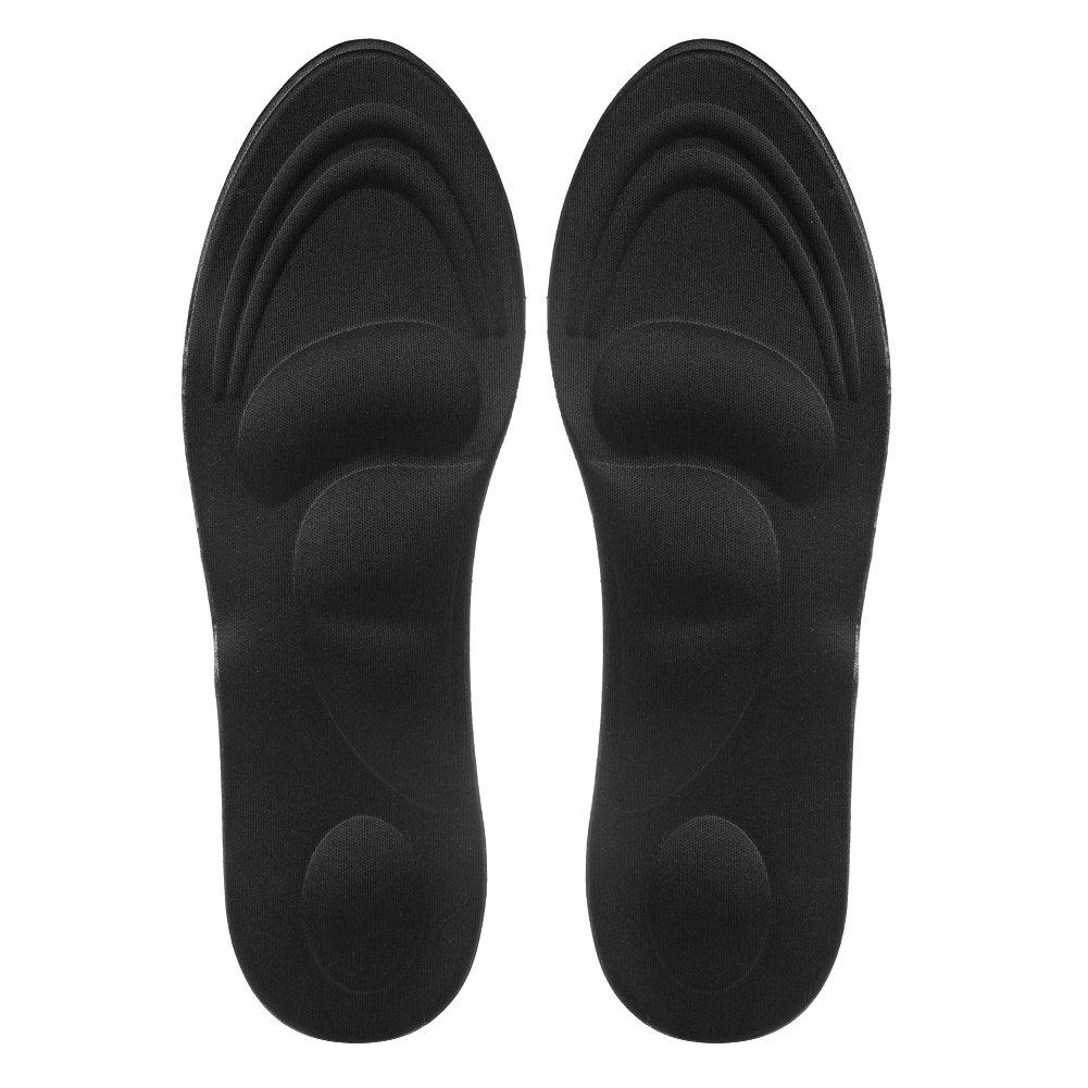 cici store 1 Pair 3D Sponge Soft Insole Comfort High Heel Shoe Pad Pain Relief Insert Cushion Pad (black)