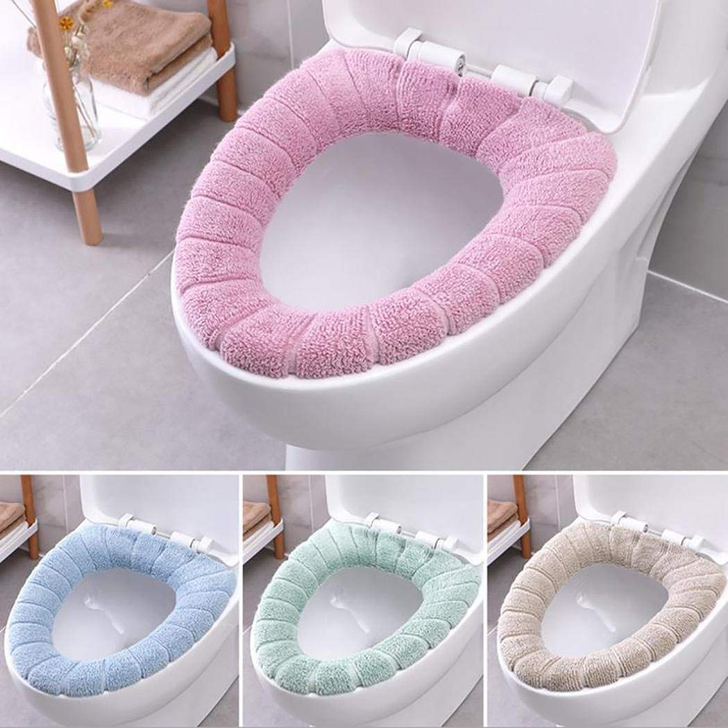 Logistt Toilet Seat Cover - Winter Warm Generic Washable Toilet Seat Cover Toilet Mat Bathroom Supplies by Logistt