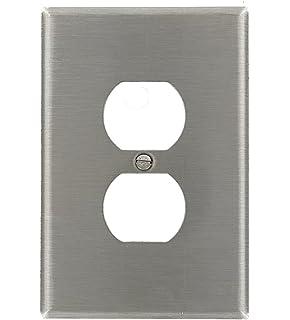 leviton 1gang duplex device receptacle wallplate oversized device mount