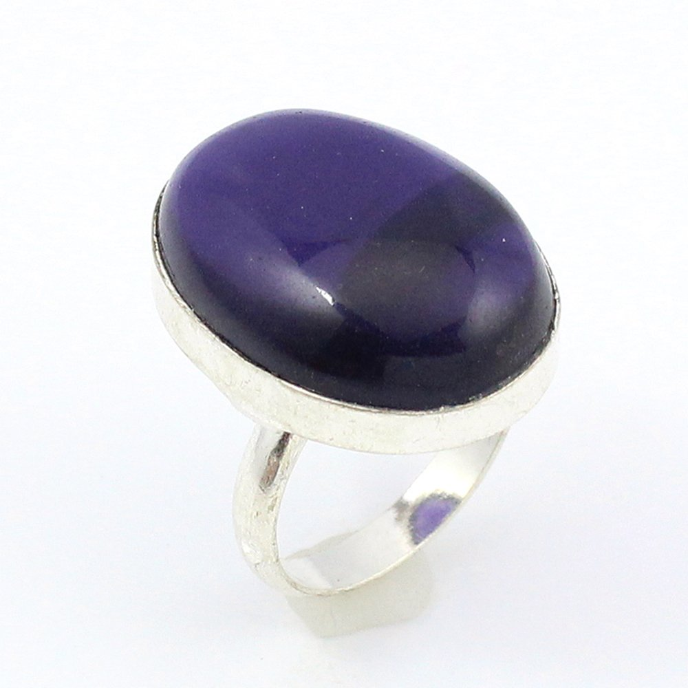 BEST QUALITY AMETHYST QUARTZ FASHION JEWELRY .925 SILVER PLATED RING S12442