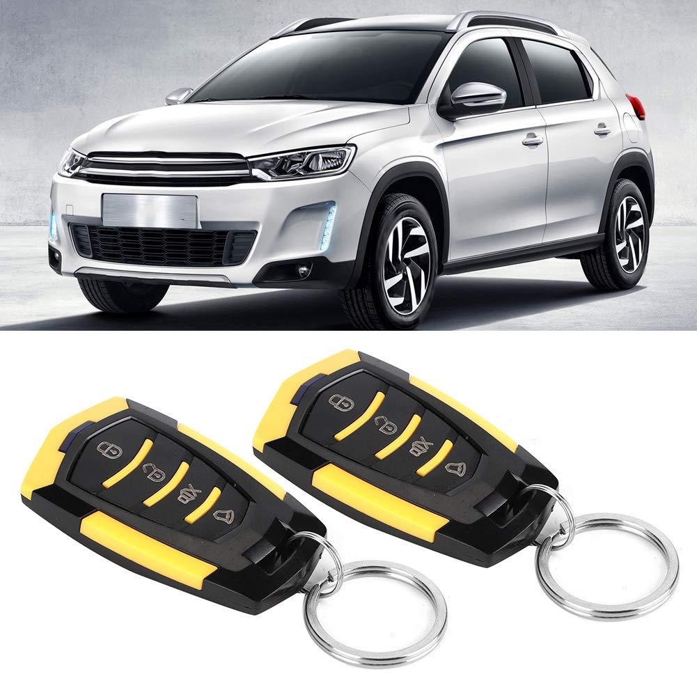 Qii lu Universal Car Alarm Keyless Entry System Central Locking Kit with Remote Control