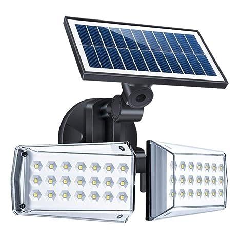 Vpqtettuecu 12W ajustable de doble cabezal LED solar de microondas ...