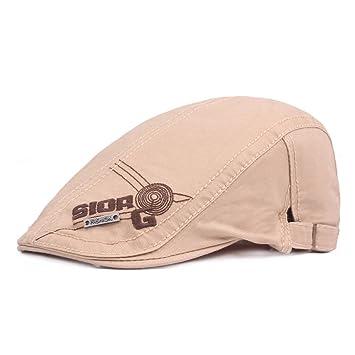 WY-Bufanda Gorra Capberet algodón Primavera otoño adelante capó Bordado  Carta Sombrero 9af3de118c6