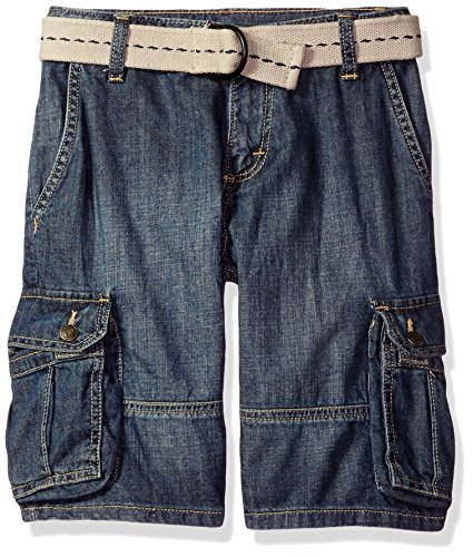 Wrangler Authentics Boys' Fashion Cargo Shorts, Blue Denim, 8