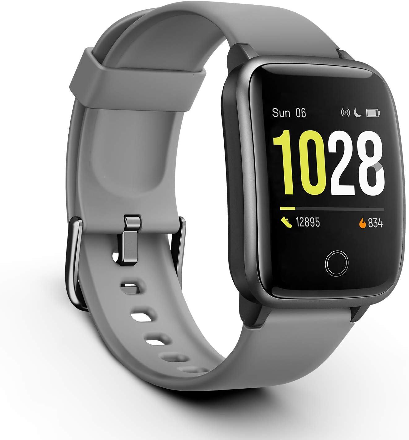 Vigorun Smartwatch Reloj Inteligente Hombre Mujer, Pantalla Táctil Completa Relojes Deportivos, Monitor Ritmo Cardíaco y Sueño, Podómetro, Impermeable Pulsera Actividad Inteligente Android: Amazon.es: Electrónica