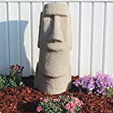 "EMSCO Group Easter Island Head Statue – Natural Sandstone Appearance – Made of Resin – Lightweight – 28"" Height"