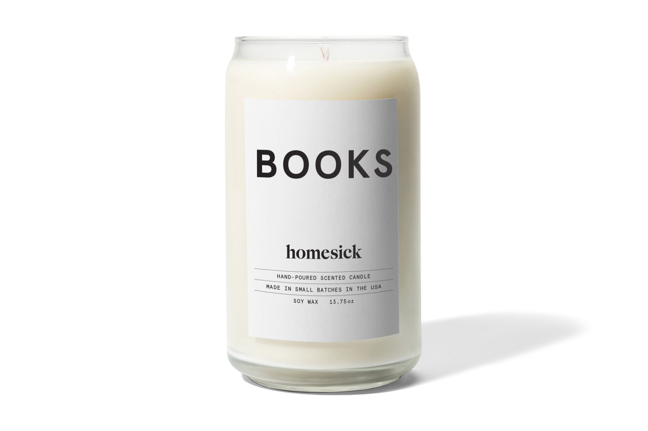 Homesick Scented Candle, Books by Homesick
