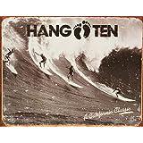 "Hang Ten - California Classic Metal Tin Sign 16""W x 12.5""H"