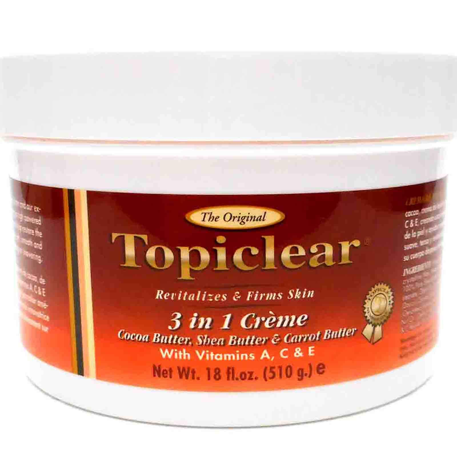 Amazon.com : Topiclear Shea Butter Creme with Vitamin E & Aloe Vera ...