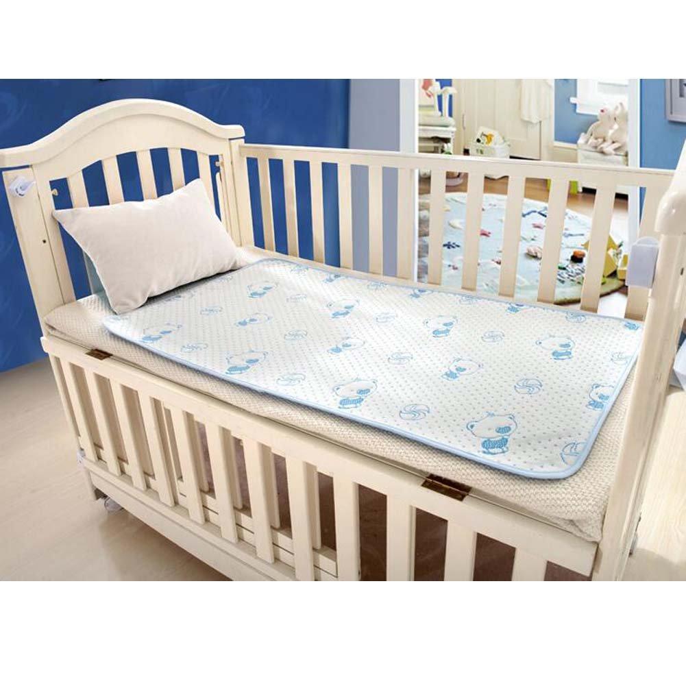 weiche atmungsaktive Matratze Pad Babybetten Bettlaken 50 * 70cm Blue Bear