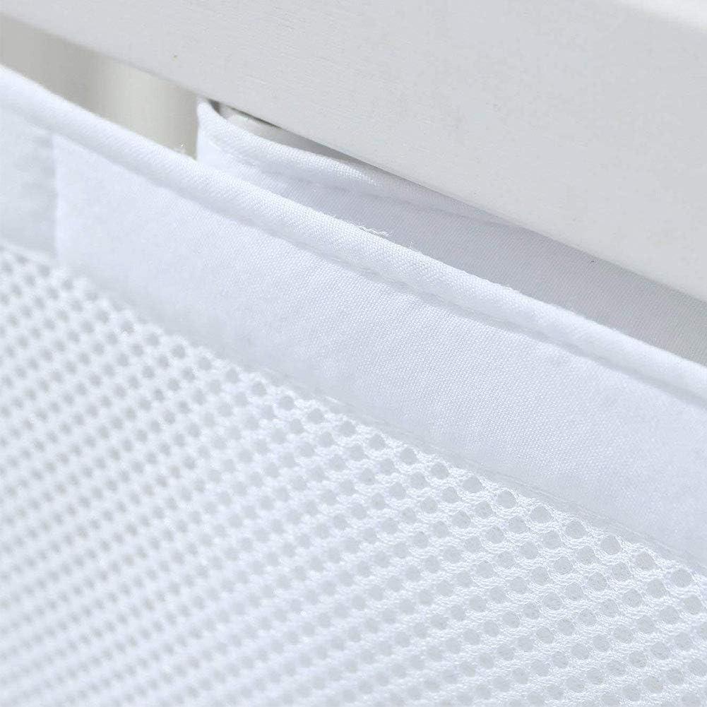 Taille Unique 465 x 0,25 x 27 cm HOMYY Doublure en Maille 4 c/ôt/és pour lit de b/éb/é Respirant Anti-Collision pour la Maison Blanc