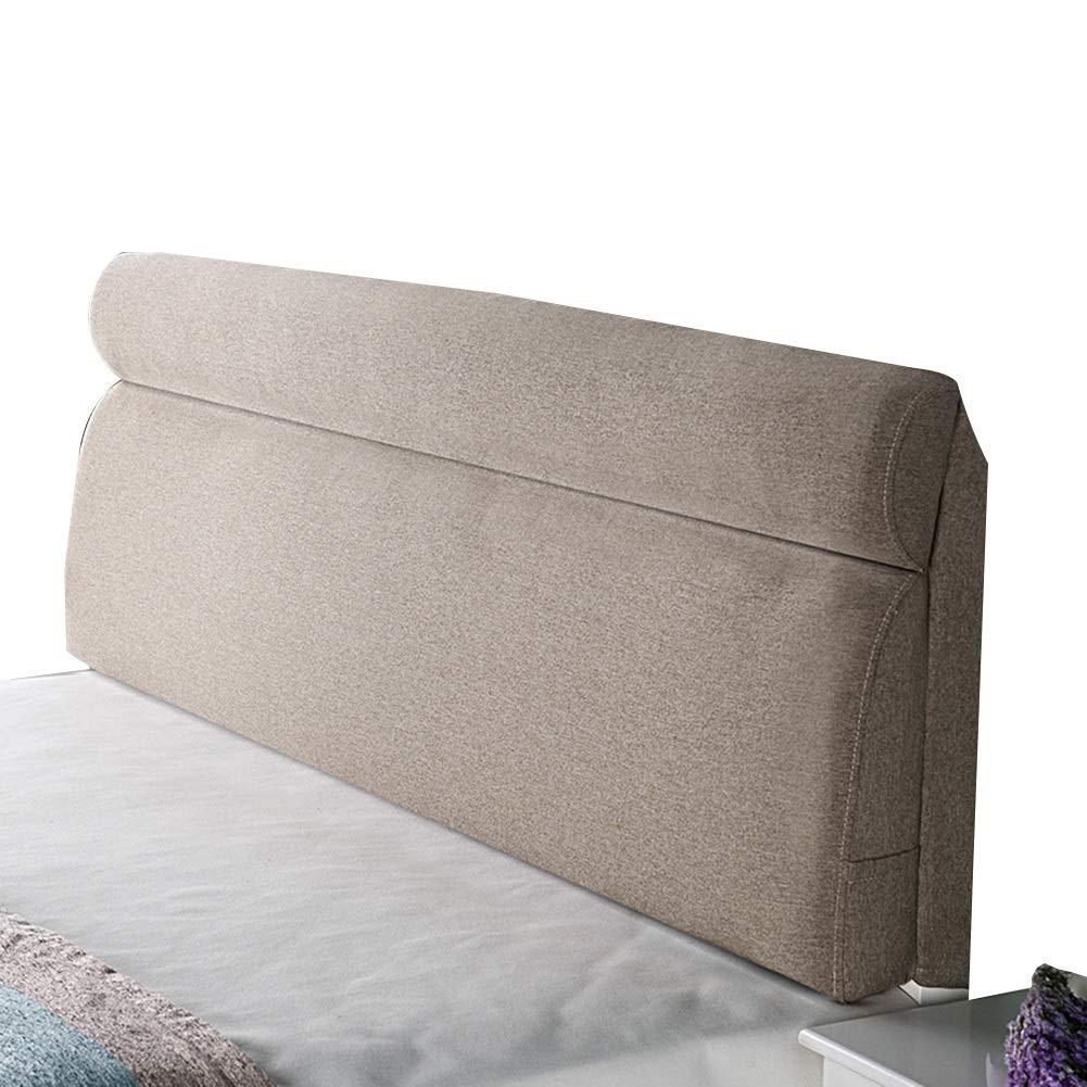 サイズ さいず : (色 KKCF A : 、5色 190cm) ヘッドボードクッションソフトケースバックレスト快適ウォッシャブル寝室亜麻 Length 、5サイズ A, Length B07LB5ZJV7 190cm