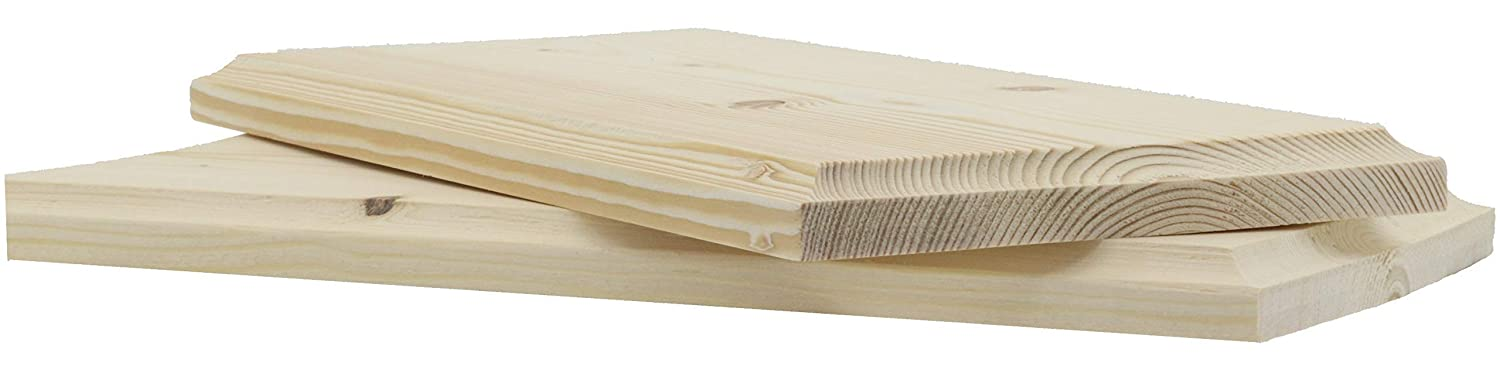 2 pack Pine Unfinished Wood Plaques 16 inches x 7.25 inches with Keyholes for Hanging Solid not Glued Boards