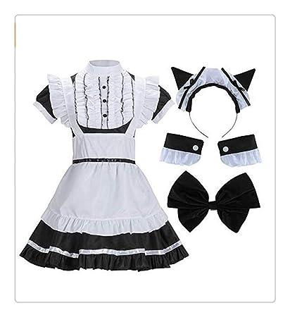 Z-one 1 4pcs vestido de lolita de mucama de la escuela francesa ...