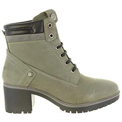 c33cbe325 Wrangler Sierra Lace Womens Other Leather Material Ankle Boots Grey - 5 UK
