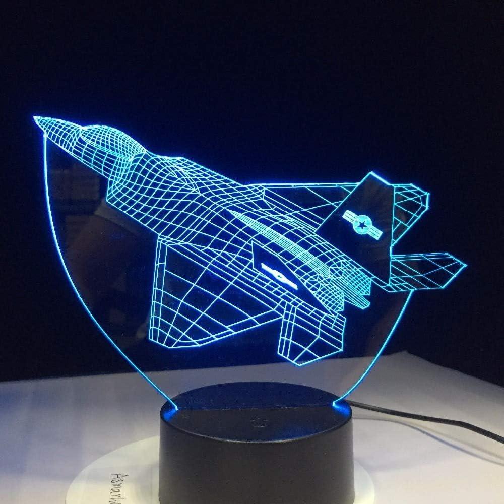 Luz Nocturna Novedad ilusión aeronave luz Nocturna aérea Cambio de Color Fiesta de cumpleaños atmósfera luz Regalo Control táctil