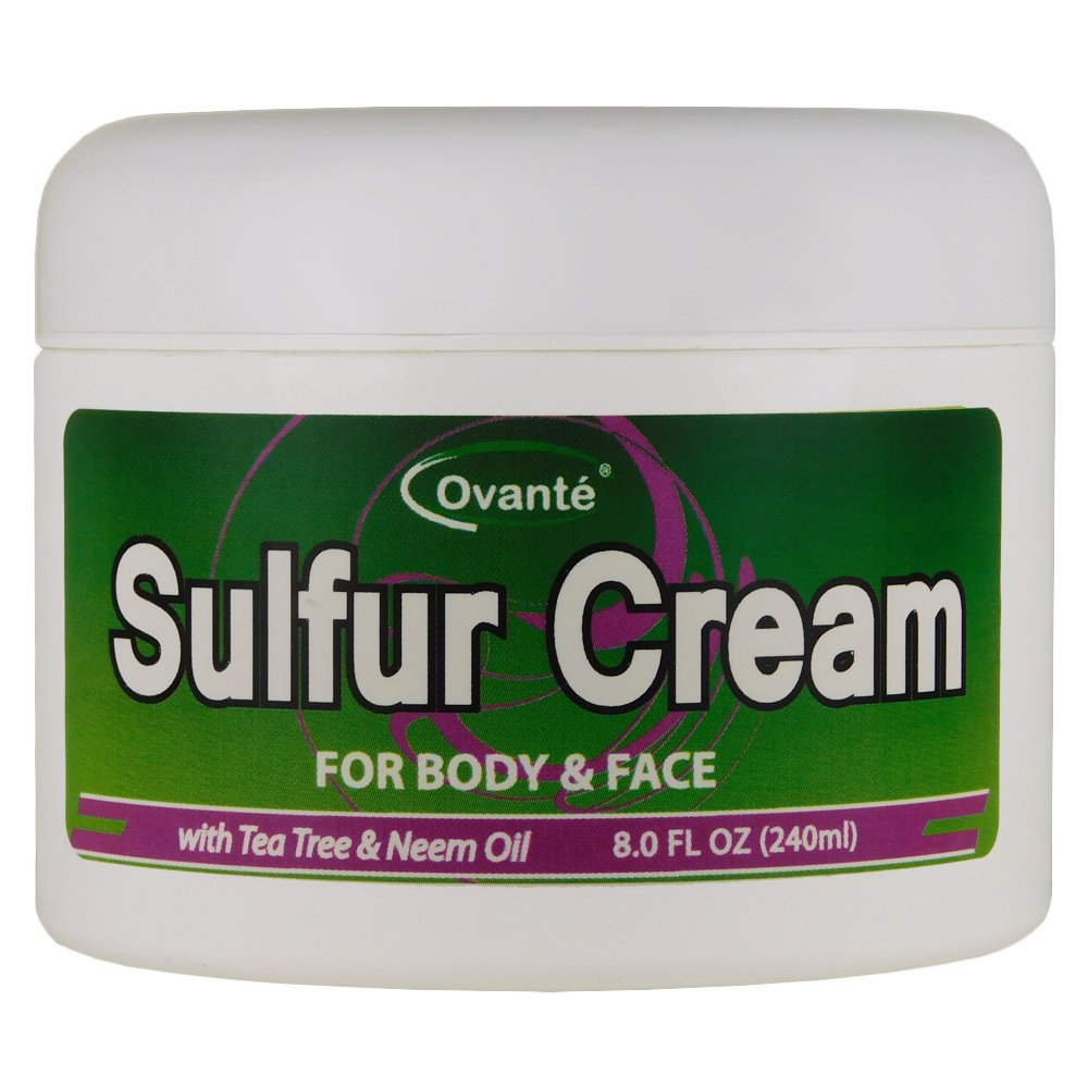 Sulfur Skin Cream (8 oz. 240 mL) Antifungal Healing Cream for Jock Itch, Ringworm, Athlete's Foot, Wounds, Skin Rashes by OVANTE