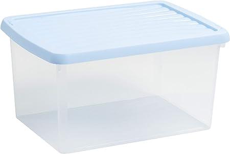 Wham - Caja de almacenaje (A4, plástico, 16 L), Color Azul: Amazon.es: Hogar