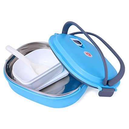 FunBlast® Lunch Box with Handle and Spoon, Premium Quality Insulated Lunch  Box for Kids 7e7ee11395