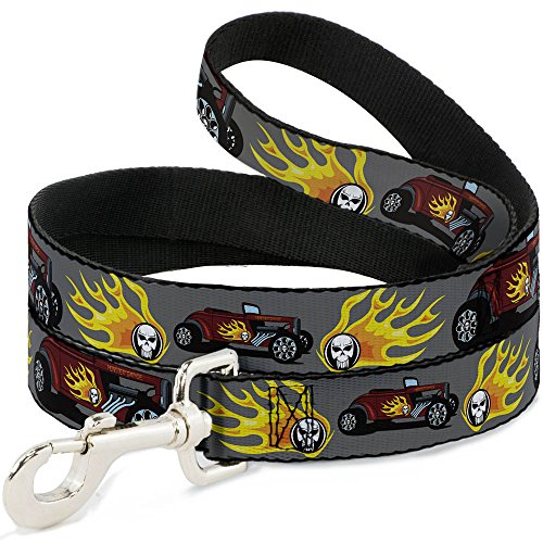 "Buckle-Down DL-W30839-W Wide 1.5"" Hot Rod with Flame Skul..."