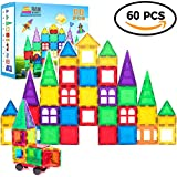 Magnetic Building Blocks 60 Piece Set, Strongest Shape Tiles, Toy Building Sets, Magnets for Kids, Suitable for Three Year Olds and Up, 3D & 2D Logical Reasoning Game, Educational Children's Block Toy