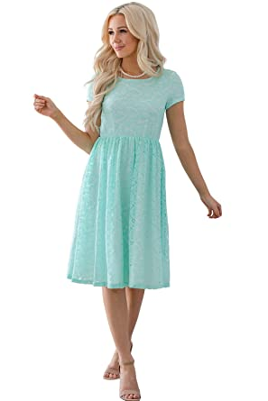 Jen Clothing Jenna Modest Lace Dress Modest Bridesmaid Dress Or