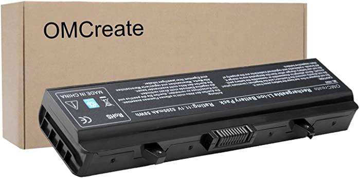 OMCreate Battery Compatible with Dell Inspiron 1525 1526 1545 1546 PP29L PP41L Series Vostro 500, fits P/N X284G / M911 / M911G / GW240 / RN873 / GP952 / RU586 / C601H / 312-0844