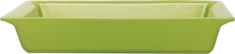 Emile Henry 15-Inch Recangular Baking Dish, Green Apple
