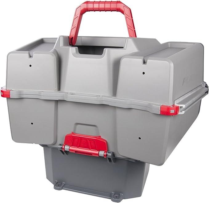 Plano PLAM80700 - Caja de Transporte para Kayak y Almacenamiento de cebos, Almacenamiento Premium para Aparejos, Color Gris/Rojo, Talla única: Amazon.es: Deportes y aire libre