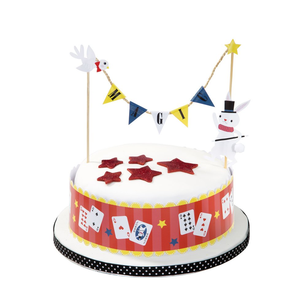 Peachy Talking Tables Magic Party Cake Topper Garland With Supports For A Funny Birthday Cards Online Elaedamsfinfo