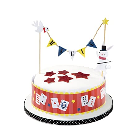 Talking Tables Magic Party Cake Topper Garland With Supports For A Birthday Multicolor Amazoncouk Kitchen Home