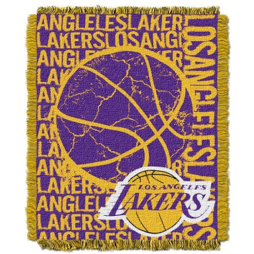 Northwest 019 NBA Los Angeles Lakers 48 x 60-Inch Double Play Jacquard Triple Woven Throw