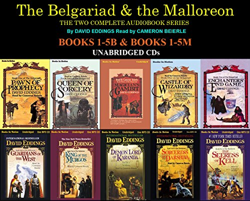 The Complete Belgariad & Malloreon Series Books 1-10 (Pawn of Prophecy, Queen of Sorcery, Magician's Gambit, Castle of Wizardry, Enchanters End Game, Guardians of the West, King of the Murgos, Demon Lord of Kranda...) Unabridged CD David Eddings (Pawn Of Prophecy Cd)